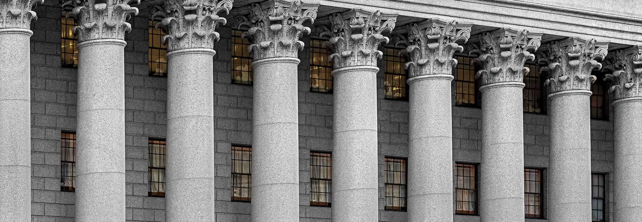 Courthouse pillars.
