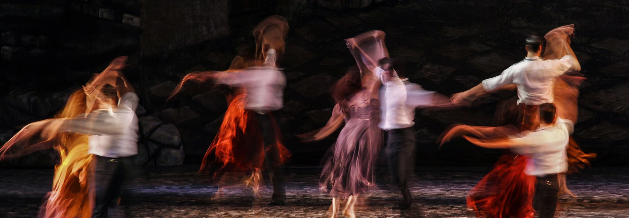 Artsy picture of blurred dancers.