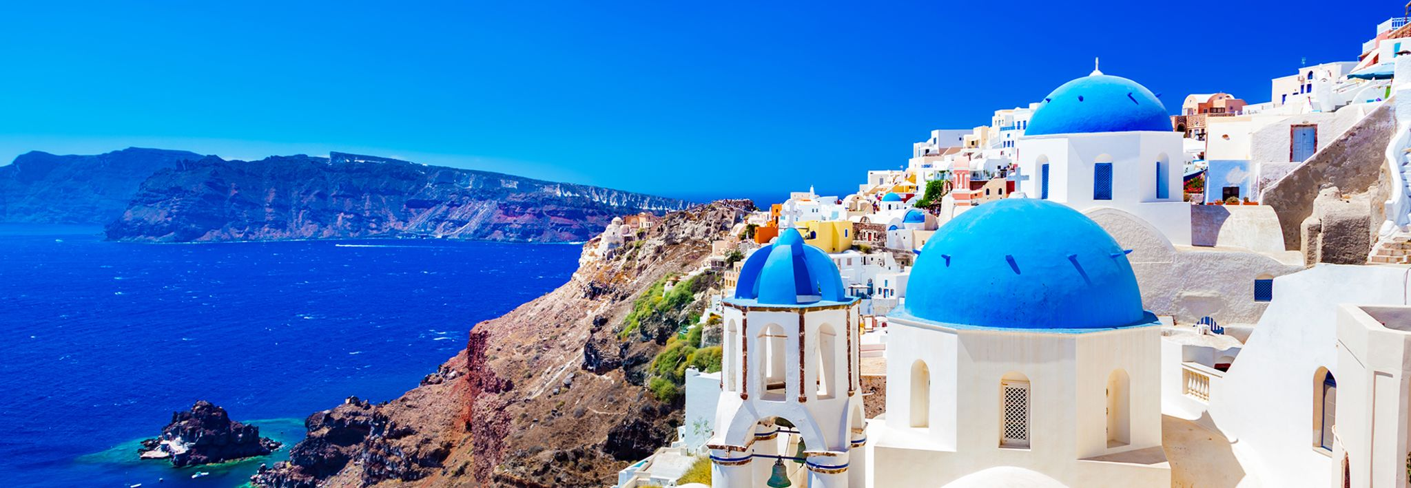 Greece is full of vibrant colors.