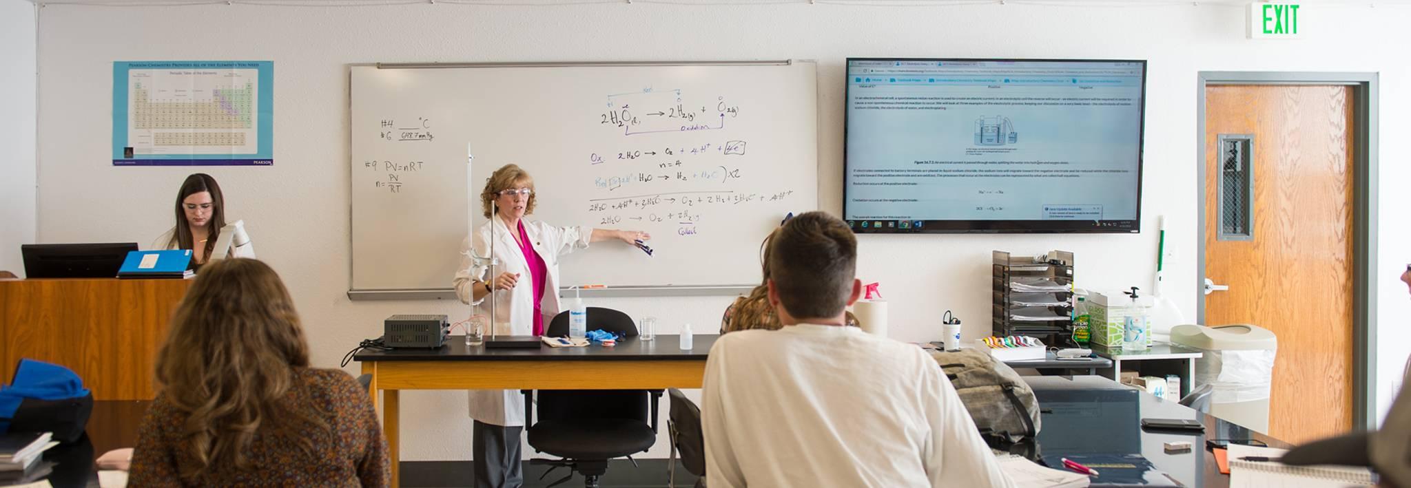 Colorado Christian University science classroom.