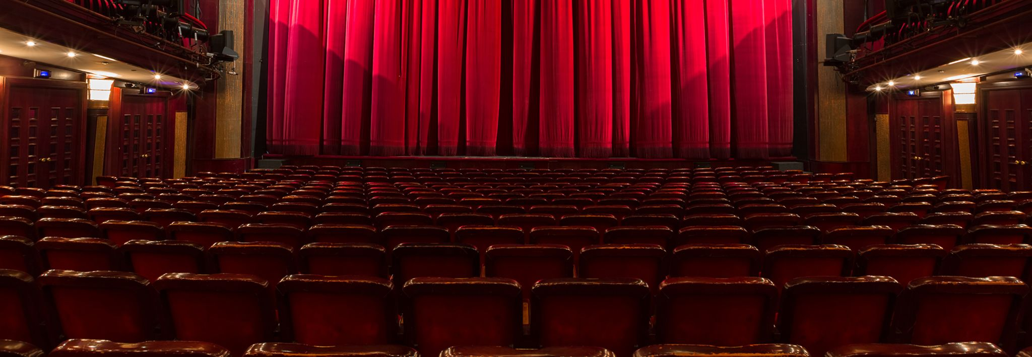 Theatre red curtain.