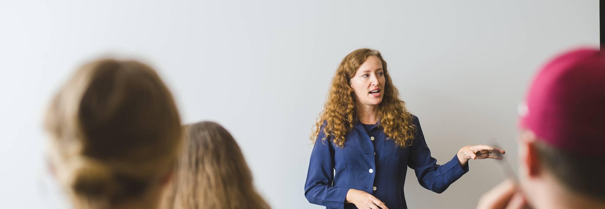 CCU professor Nahanni Freeman teaching a class.