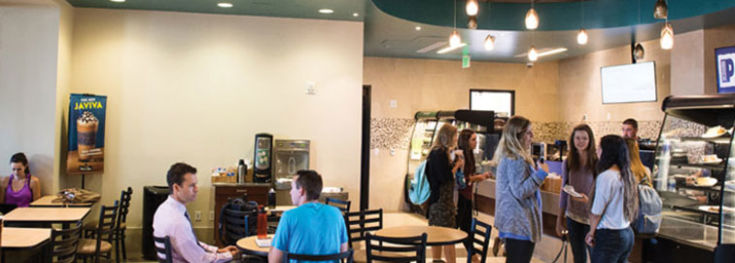Leprino Cafe is located in Leprino Hall on the Colorado Christian University campus in Lakewood.