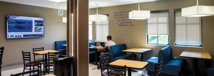 The Yetter Cafe is located in Yetter Hall at CCU.