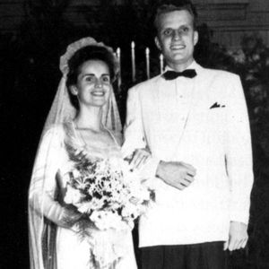 billy graham and wife wedding picture