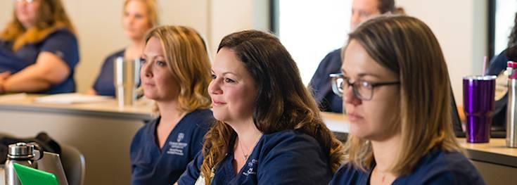 CCU nursing students in classroom