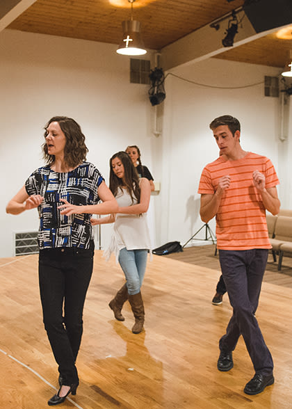 Dance ensemble practice