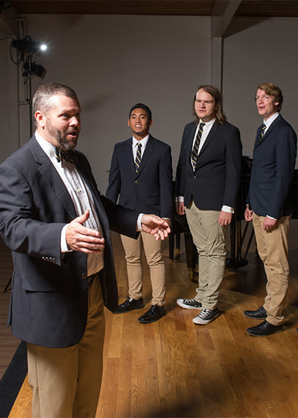 Four members of the men's choir
