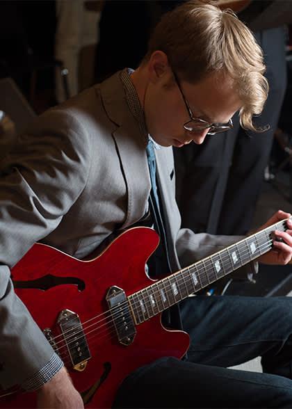 worship ensemble guitarist