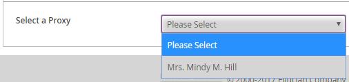 select a proxy