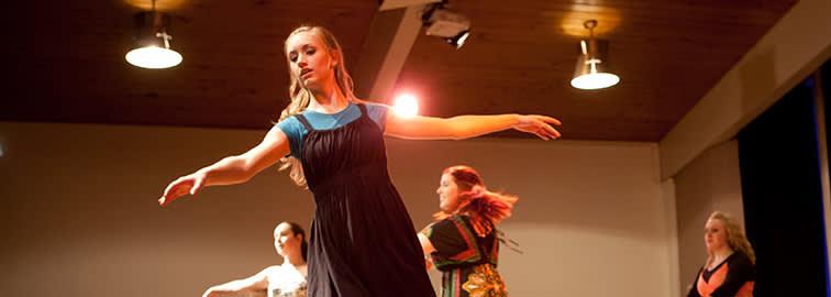 person dancing for dance recital