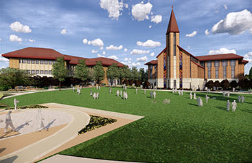 Armstrong Center chapel computer rendering