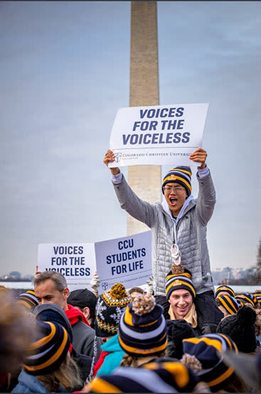 CCU students at March For Life rally in Washington DC