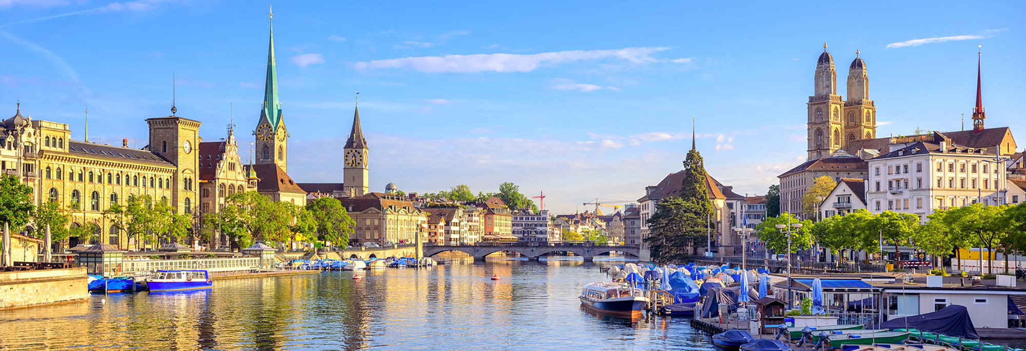the city of zurich during the day