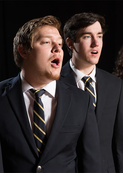 Two vocal Jazz ensemble performers
