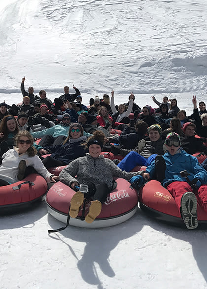 tudents Tubing in the Rockies