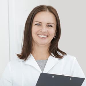 Nurse in white labcoat
