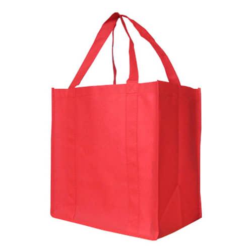 Red Custom Printed Non-Woven Shopping Bag