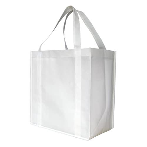 White Custom Printed Non-Woven Shopping Bag