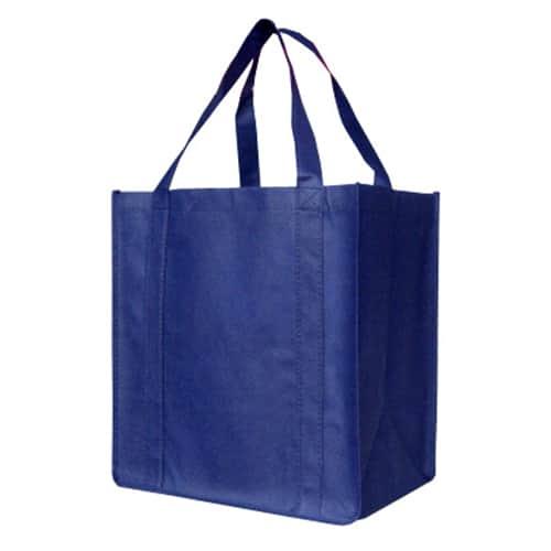 Navy Blue Custom Printed Non-Woven Shopping Bag