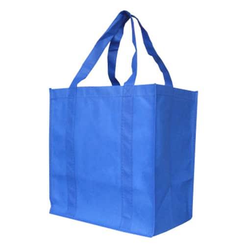 Royal Blue Custom Printed Non-Woven Shopping Bag