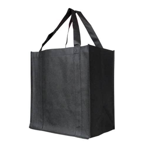 Black Custom Printed Non-Woven Shopping Bag