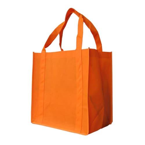 Orange Custom Printed Non-Woven Shopping Bag