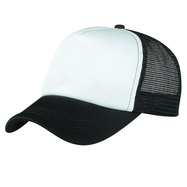 Black/White Lodge Trucker Cap
