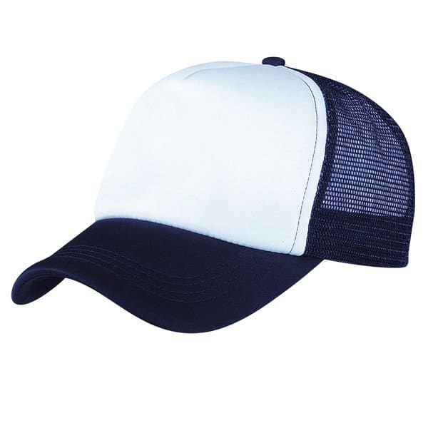 Navy/White Lodge Trucker Cap