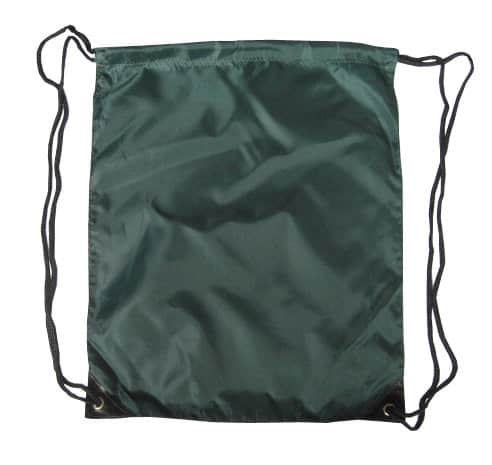 Green Nylon Drawstring Backsack