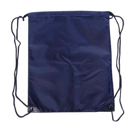 Navy Blue Nylon Drawstring Backsack