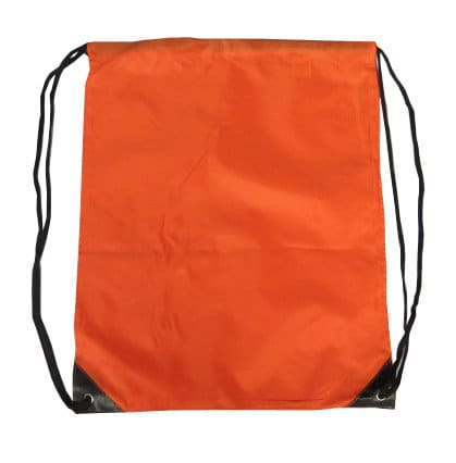 Orange Nylon Drawstring Backsack