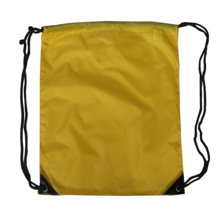 Yellow Nylon Drawstring Backsack