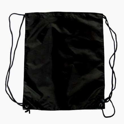 Black Nylon Drawstring Backsack
