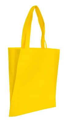 Yellow Non Woven Tote With V Gusset