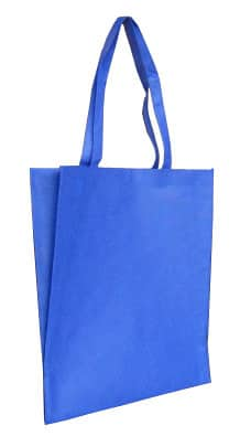 Royal Blue Non Woven Tote With V Gusset