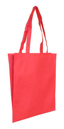 Red Non Woven Tote With V Gusset