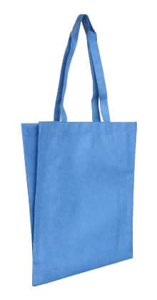 Powder Blue Non Woven Tote With V Gusset