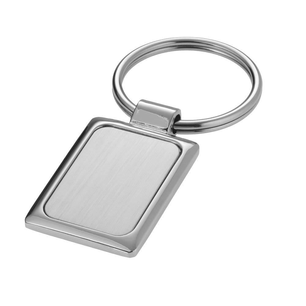 Silver Rectangle Keyring