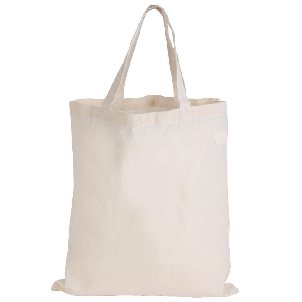 Natural Calico Short Handle Tote Bag