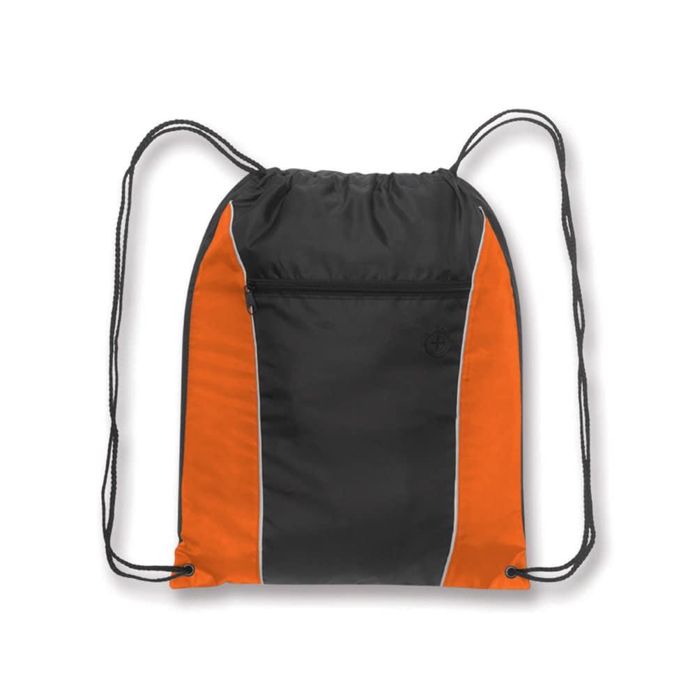 Orange/Black Forest Drawstring Backpack