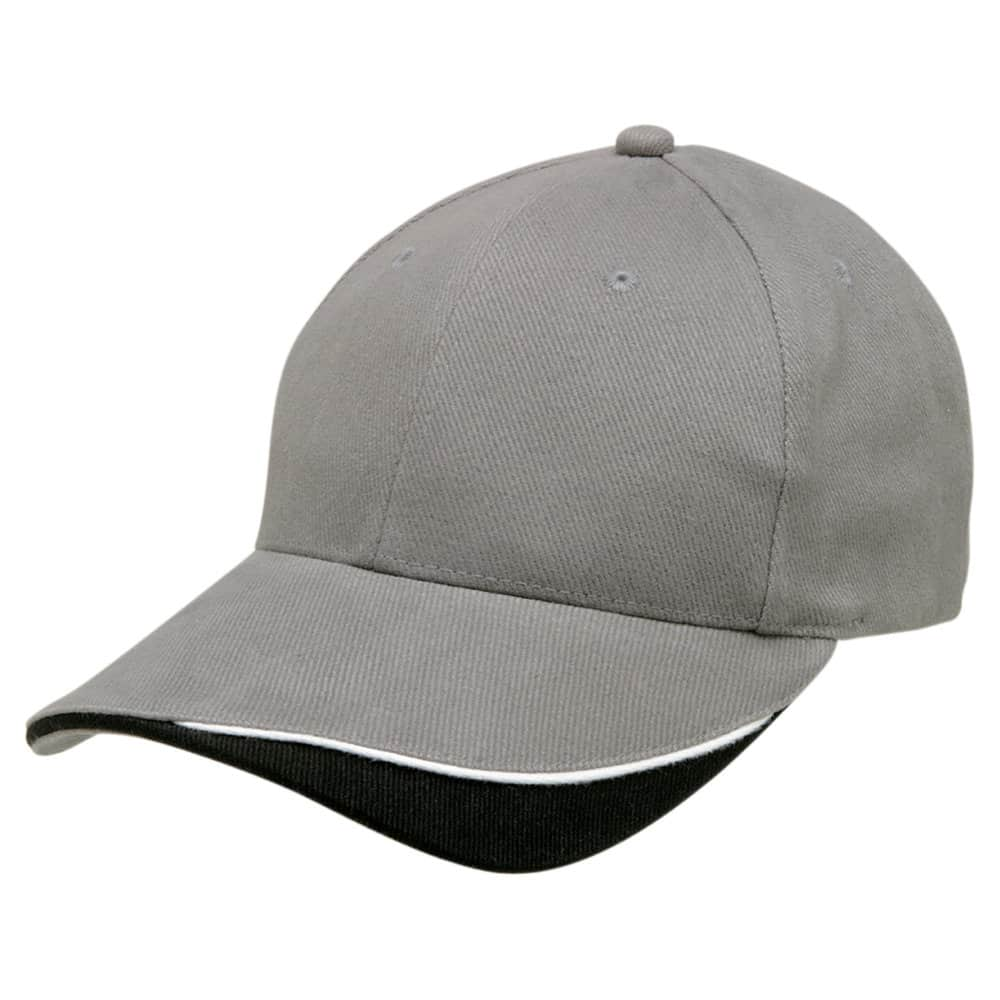Grey/White/Black Stampton Cap