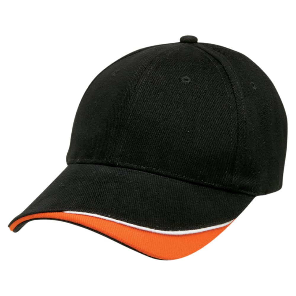 Black/White/Orange Stampton Cap