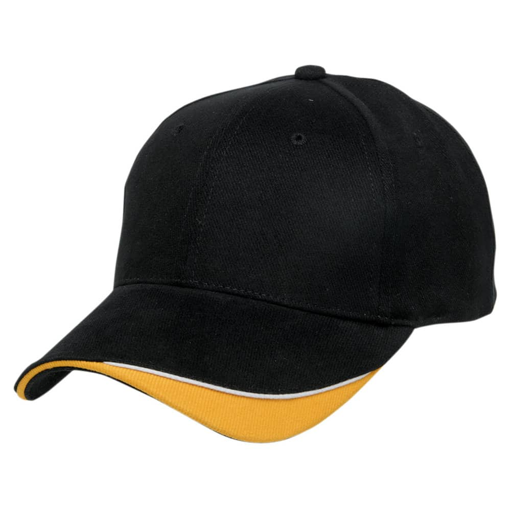 Black/White/Gold Stampton Cap