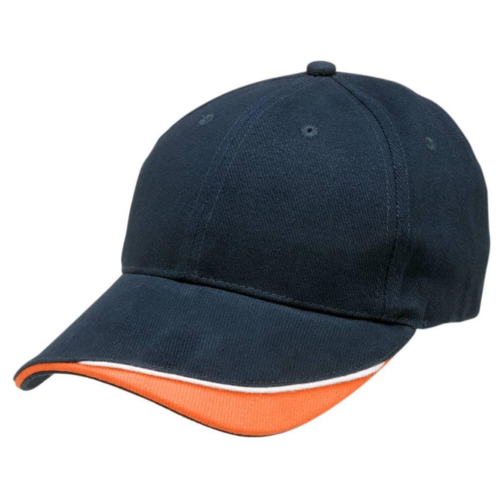 Navy/White/Orange Stampton Cap