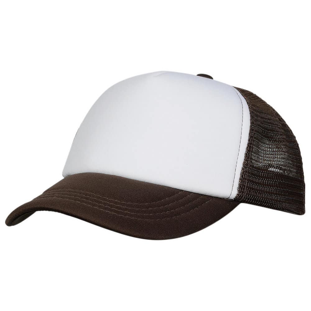 Brown/White Lodge Trucker Cap