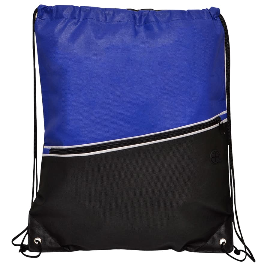 Blue Non-Woven Library Backsack