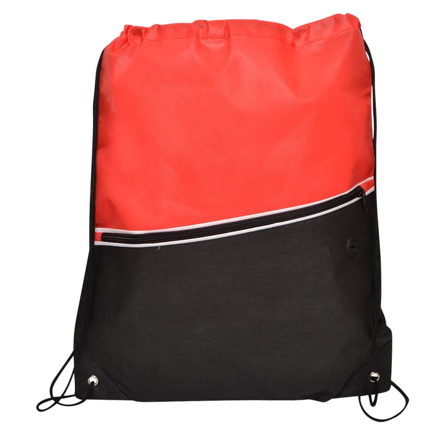 Red Non-Woven Library Backsack