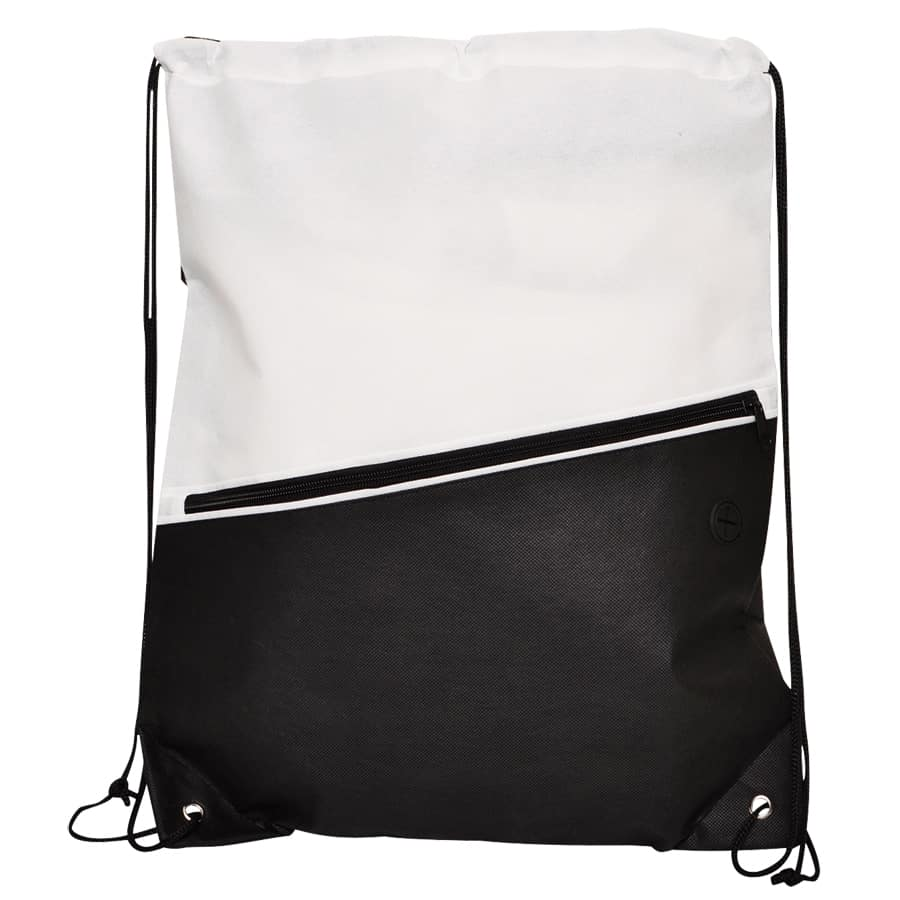 White Non-Woven Library Backsack
