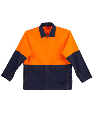 Orange/Navy Hi-Vis Cotton Jacket